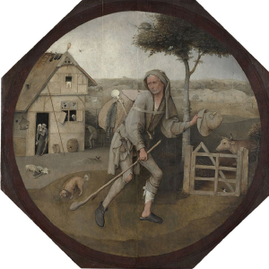 Bosch-Hieronymous-The-Pedlar-c1494-1515-oil-on-panel-Museum-Boijmans-Van-Beuningen-Rotterdam-square