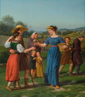 Eckersberg-Christoffer-Wilhelm-The-Maiden-from-Afar-from-poem-by-Schiller-1830-oil-on-canvas-Hirschsprung-Collection-Copenhagen