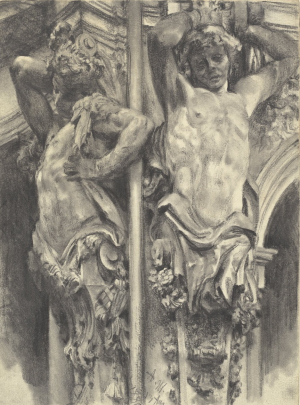 Menzel-Adolph-Atlases-in-the-Wallpavillon-of-the-Dresden-Zwinger-1880-drawing-National-Gallery-of-Art-Washington-DC-c