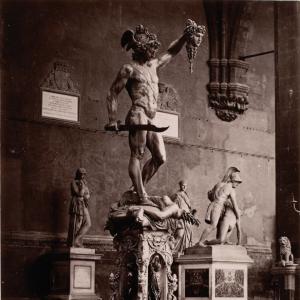 Fratelli-Alinari-Perseus-Cellini-Loggia-dei-Lanzi-Florence-c1860-90-albumen-silver-print-National-Gallery-of-Canada-square