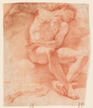 Cortona-Pietro-da-follower-Seated-male-nude-c1650-drawing-Minneapolis-Institute-of-Art