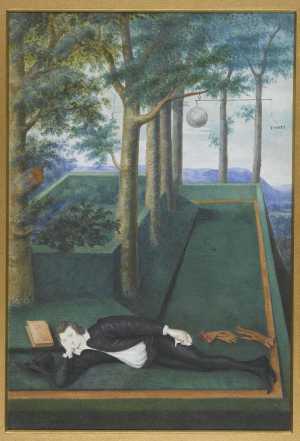 Hilliard-Nicholas-Portrait-of-Henry-Percy-9th-Earl-of-Northumberland-c1590-95-watercolor-on-vellum-Rijksmuseum
