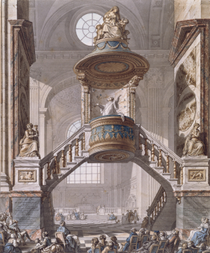Wailly-Charles-de-View-of-the-Pulpit-St-Sulpice-Paris-1789-watercolor-Cooper-Hewitt-Smithsonian-Design-Museum