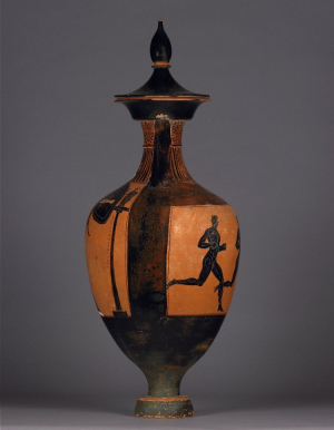 Greek-Attic-amphora-(black-figure)-Panathenaic-Prize-Footrace-333-32-BC-British-Museum-B