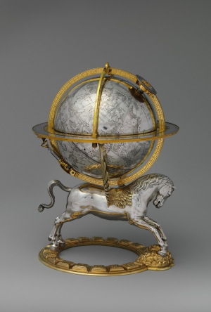 Emmoser-Gerhard-Celestial-globe-with-clockwork-1579-silver-gilt-brass-steel-former-Queen-Christina-(booty-from-Prague)-Metropolitan-Museum-of-Art-New-York-c