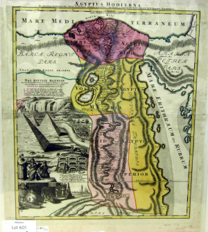 Homann-Johann-Baptist-Aegyptus-Hodierna-(Map-of-Egypt)-c1720-hand-colored-etching-and-engraving-Metropolitan-Museum-of-Art-New-York
