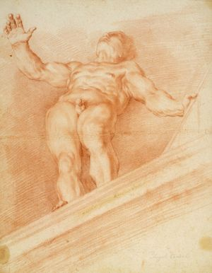 Canini-Giovanni-Angelo-foreshortened-drawing-c1660
