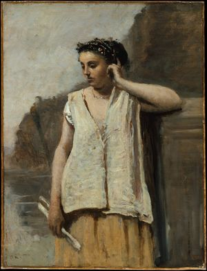 Corot-Jean-Baptiste-Camille-Muse-History-c1865-Met-Havemeyer