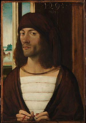German-painter-Portrait-of-a-man-1491-Met