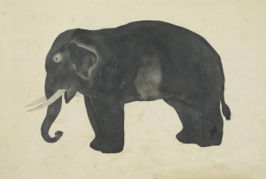 Anonymous-drawing-Elephant-American-early-19c-drawing-Wadsworth-Atheneum