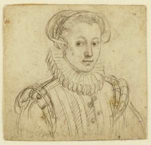 Goltzius-Hendrik-Portrait-of-Josina-Hamels-1580-drawing-on-vellum-Teylers-Museum-Haarlem