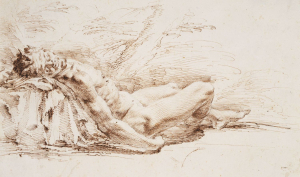 Della-Bella-Stefano-Sleeping-Satyr-c1650-55-drawing-Royal-Collection