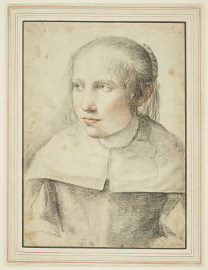Van-der-Cooghen-Leendert-attributed-Portrait-of-Young-Woman-c1650-drawing-Royal-Collection
