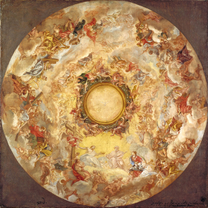 Gaulli-Giovanni-Battista-St-Agnes-is-received-into-Heaven-after-1689-oil-on-canvas-Museum-Kunstpalast-Düsseldorf-square