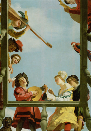 Honthorst-Gerrit-van-Musical-Group-on-a-Balcony-1622-oil-on-panel-Getty