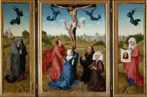 Rogier-van-der-Weyden-Crucifixion-Triptych-1443-45-oil-on-panel-Kunsthistorisches-Museum-Vienna