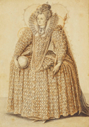 Oliver-Isaac-attributed-Queen-Elizabeth-I-c1603-drawing-Royal-Collection