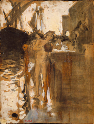 Sargent-John-Singer-Bathers-on-Wharf-1879-80-oil-on-panel-Metropolitan-Museum-of-Art-New-York