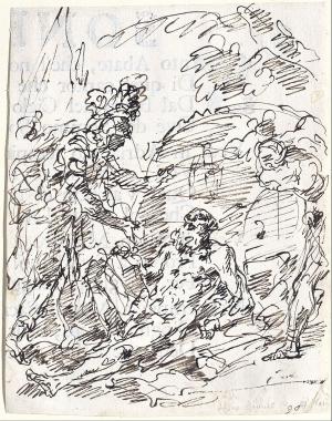 Fontebasso-Francesco-Alexander-and-Diogenes-1769-drawing-Museum-Kunstpalast-Düsseldorf