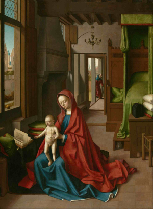 Petrus-Christus-Madonna-and-Child-in-Domestic-Interior-c1460-67-oil-on-panel-Nelson-Atkins-Museum-of-Art-Kansas-City
