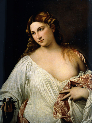 Titian-Flora-c1515-17-oil-on-canvas-Galleria-degli-Uffizi-Florence