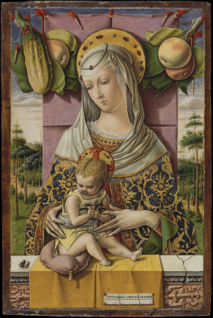 Crivelli-Carlo-Madonna-and-Child-c1480-tempera-on-panel-Metropolitan-Museum-of-Art-New-York-perfectly-preserved