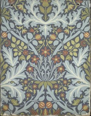 Wallpaper-England-by-William-Morris-Autumn-Leaves-1888-block-printed-Victoria-&-Albert-Museum