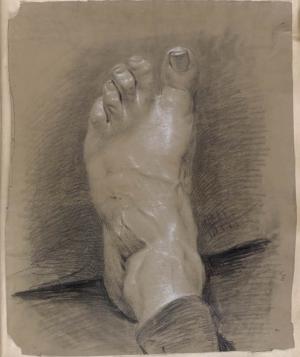 Haydon-Benjamin-Robert-Cast-of-foot-from-Drawing-Album-before-1835-drawing-British-Museum