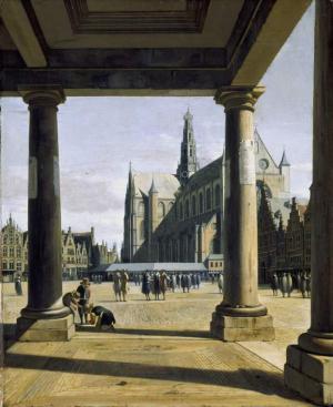 Berckheyde-Gerrit-Adriaens-Groote-Kerk-at-Haarlem-1674-oil-on-panel-Fitzwilliam-Museum-Cambridge