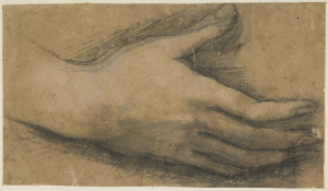 Barocci-Federico-workshop-Study-of-right-hand-c1590-1600-drawing-National-Galleries-of-Scotland