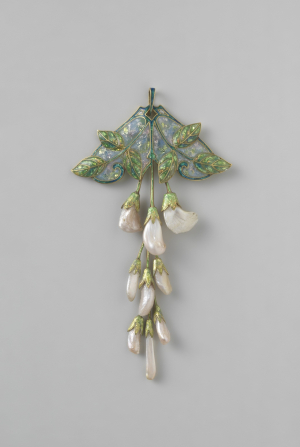 Fouquet-Georges-(Paris)-Pendant-c1908-1910-Hanging-blossoms-Pearls-set-in-enameled-gold-Rijksmuseum