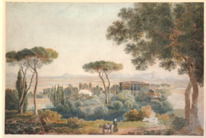 L'Evêque-Henri-View-of-Frascati-and-the-Roman-Campagna-before-1832-watercolor-British-Museum