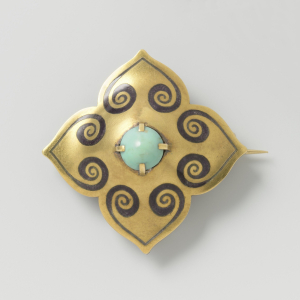Van-Kooten-Lodewijk-Willem-the-Younger-designed-by-Bert-Nienhuis-Brooch-c1908-1911-enameled-gold-turquoise-Rijksmuseum