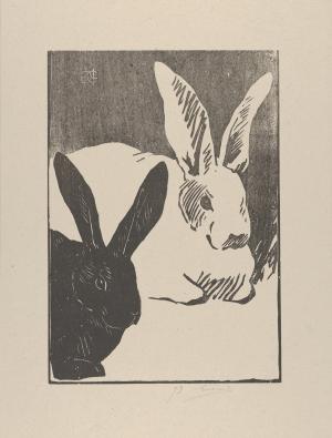 Guérard-Henri-Charles-Les-Lapins-1893-woodcut-Metropolitan-Museum-of-Art-New-York