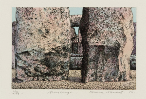 Stevens-Norman-Stonehenge-1976-intaglio-print-and-watercolor-on-paper-Tate