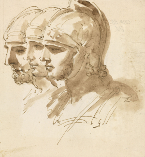 Ricci-Sebastiano-Heads-of-three-Roman-soldiers-c1717-20-drawing-Royal-Collection