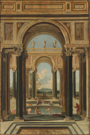 0-Codazzi-Viviano-follower-Women-bathing-in-Classical-Arcade-c1650-80-oil-on-canvas-Princeton-University-Art-Museum