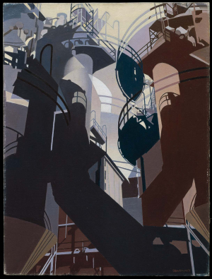 Sheeler-Charles-Ore-into-Iron-1953-oil-on-canvas-Museum-of-Fine-Arts-Boston