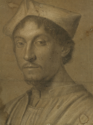 0-Lotto-Lorenzo-after-Head-of-a-young-prelate-(copy-of-painting-attributed-to-Lotto)-17th-century-drawing-Royal-Collection