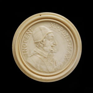 Italy-ivory-Portrait-Medallion-of-Pope-Innocent-XI-c1679-89-turned-ivory-Victoria-&-Albert-Museum