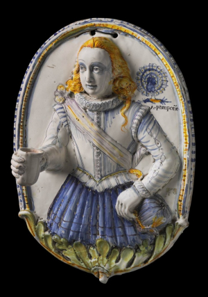 Anonymous-sculpture-France-Nevers-Wall-Light-relief-of-a-Youth-with-outstretched-hand-as-candle-socket-c1600-tin-glazed-earthenware-Museum-of-Fine-Arts-Boston-c