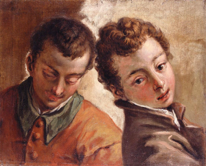 Ricci-Sebastiano-Juxtaposed-Heads-c1725-30-oil-on-canvas-Royal-Collection