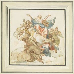 Pietri-Pietro-de'-The-Assumption-before-1716-drawing-with-watercolor-Royal-Collection