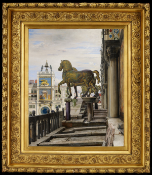 Coleman-Charles-Caryl-The-Bronze-Horses-of-San-Marco-1876-oil-on-canvas-Minneapolis-Institute-of-Art
