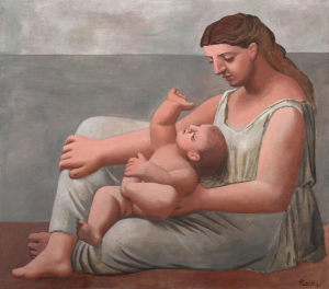 Picasso-Pablo-Mother-and-Child-1921-oil-on-canvas-Art-Institute-of-Chicago