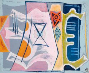 Banting-John-String-Music-1937-oil-on-canvas-Middlesbrough-Institute-of-Modern-Art