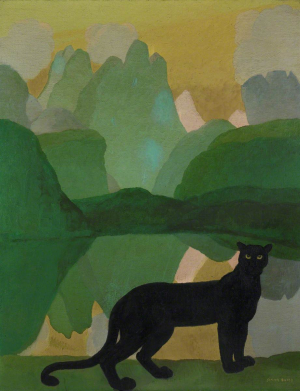 Bussy-Simon-The-Black-Panther-c1920-oil-on-canvas-Whitworth-Art-Gallery-University-of-Manchester