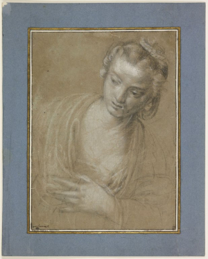 Caliari-Benedetto-(younger-brother-of-Paolo-Veronese)-Study-of-a-Woman-before-1598-drawing-Musée-du-Louvre