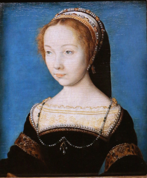 Corneille-de-Lyon-Portrait-of-a-Woman-c1540-oil-on-panel-Cleveland-Museum-of-Art-Ohio